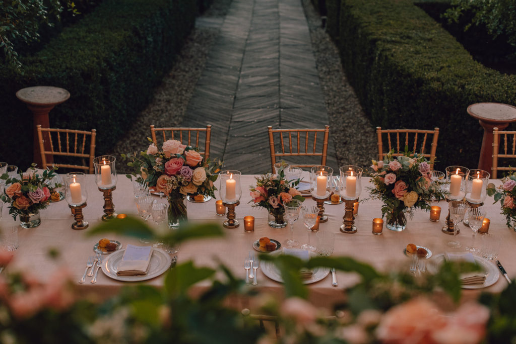 Table Sikh ceremony Priest in Italy by Italian Wedding Designer