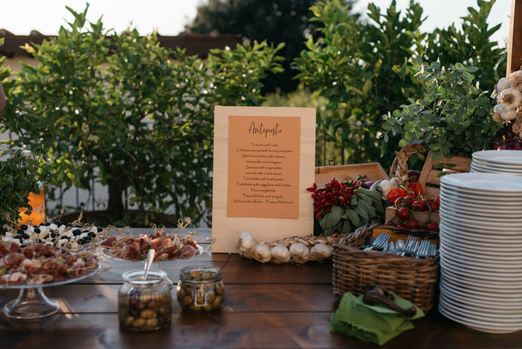 Welcome dinner Menu - Indian Wedding in Tuscany - Italian Wedding Designer