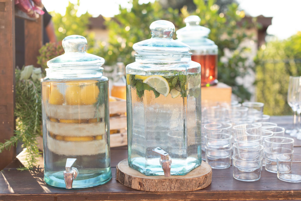 Flavoured waters - Indian Wedding in Tuscany - Italian Wedding Designer