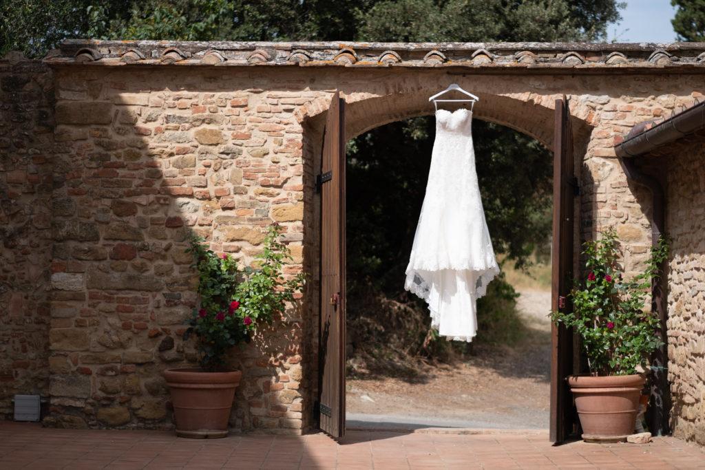 Bridal Dress - Wedding at Borgo Petrognano - Italian Wedding Designer