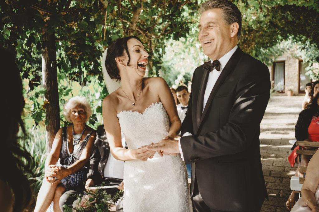 Smiling newlyweds - Wedding at Borgo Petrognano - Italian Wedding Designer