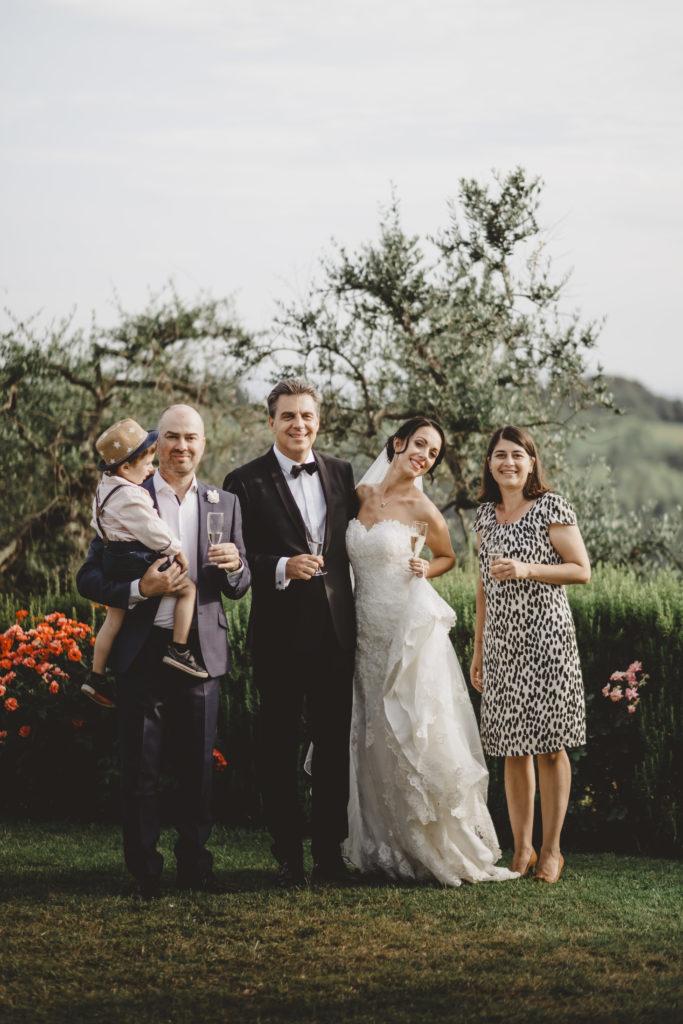 Family portrait - Wedding at Borgo Petrognano - Italian Wedding Designer