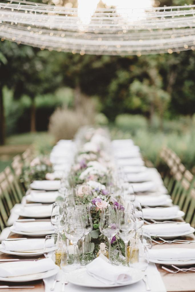 Decoration of the Table - Wedding at Borgo Petrognano - Italian Wedding Designer