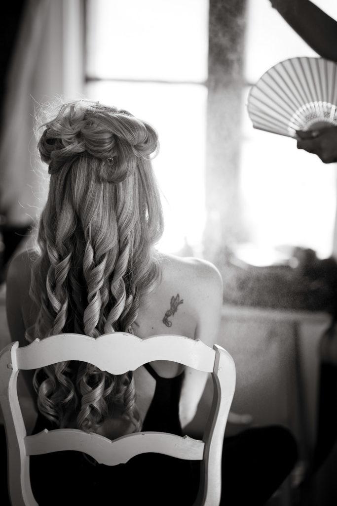 Bride Hairstyle - Wedding at Villa Cimbrone - Italian Wedding Designer