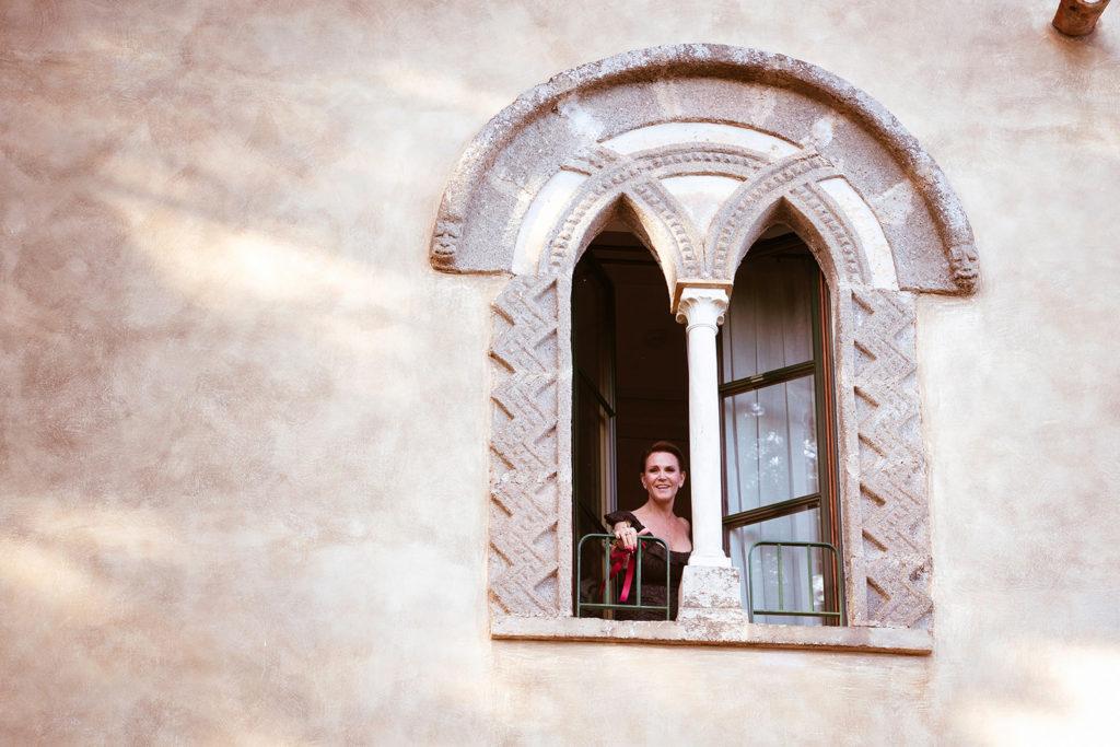 Greta Garbo Suite Window - Wedding at Villa Cimbrone - Italian Wedding Designer