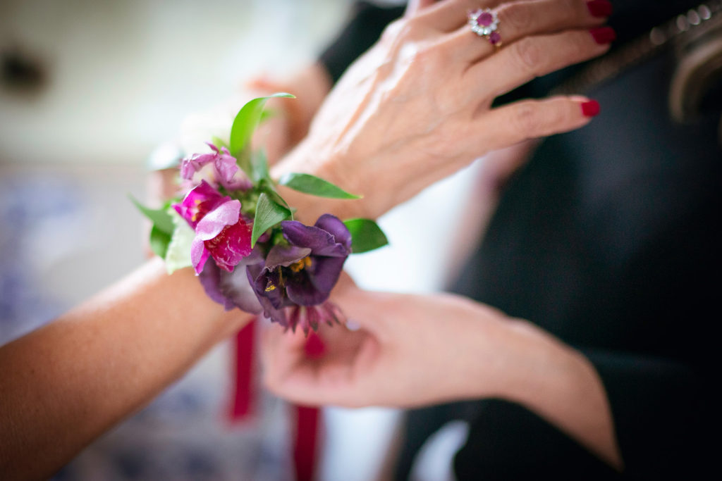Corsages by Flowers Living - Wedding at Villa Cimbrone - Italian Wedding Designer