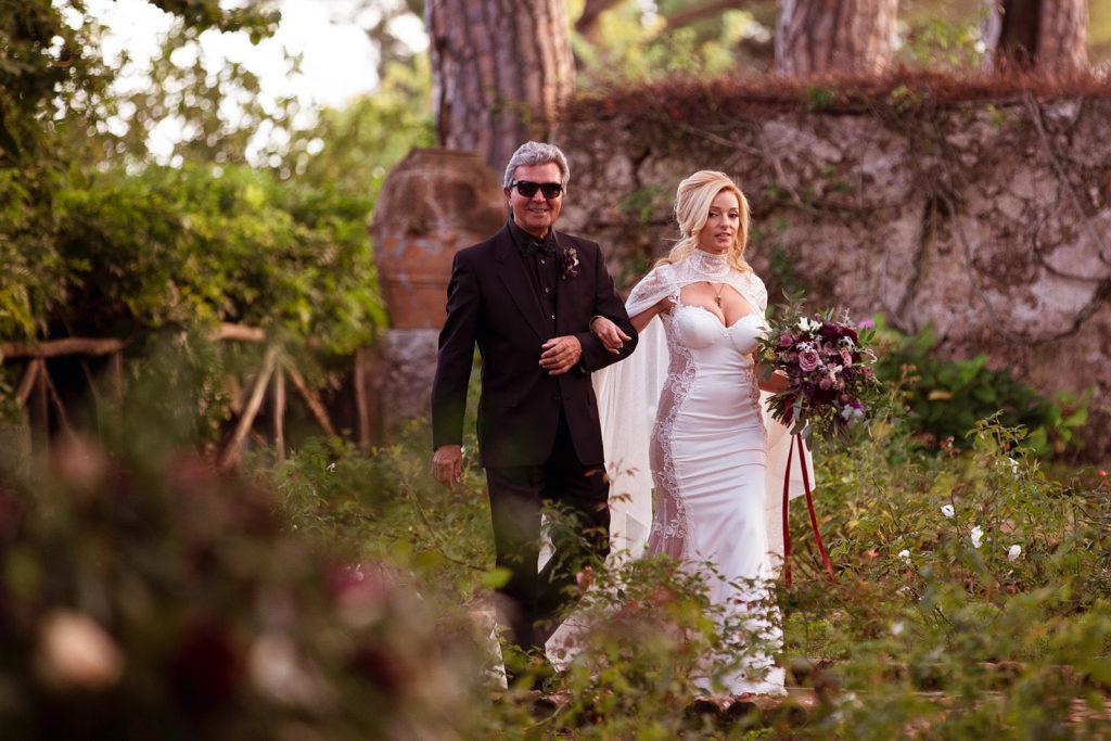 Bride Entrance - Wedding at Villa Cimbrone - Italian Wedding Designer