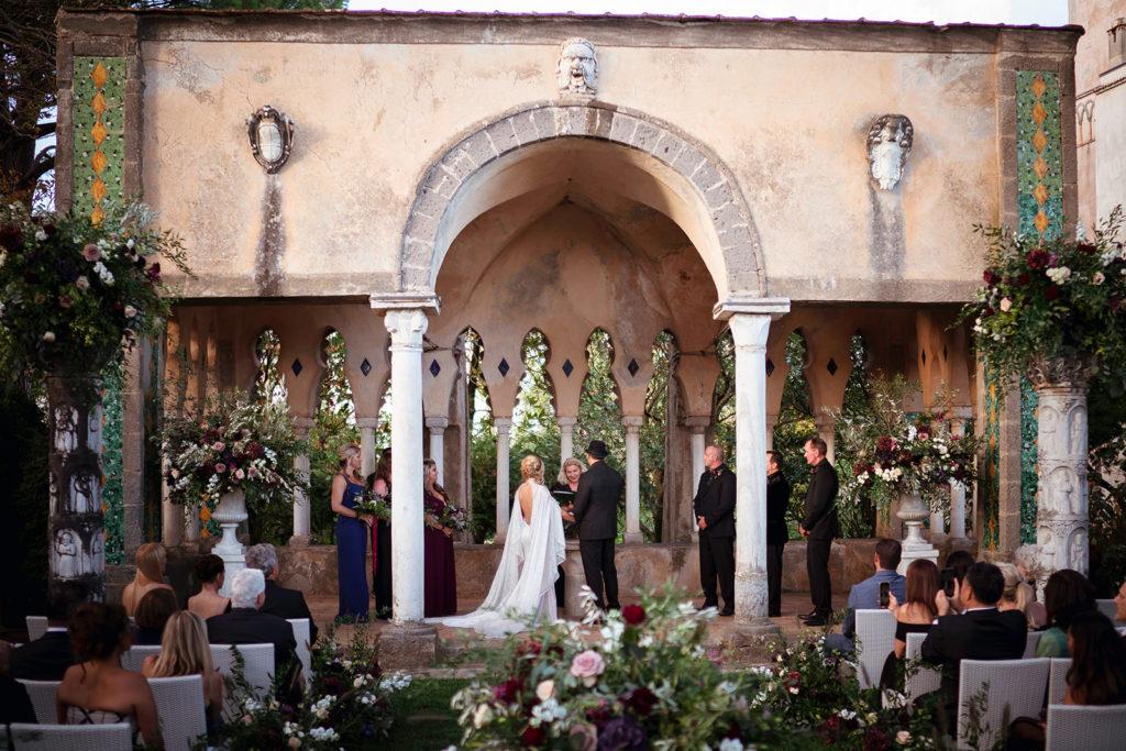 Tea room ceremony at Villa Cimbrone - Wedding at Villa Cimbrone - Italian Wedding Designer
