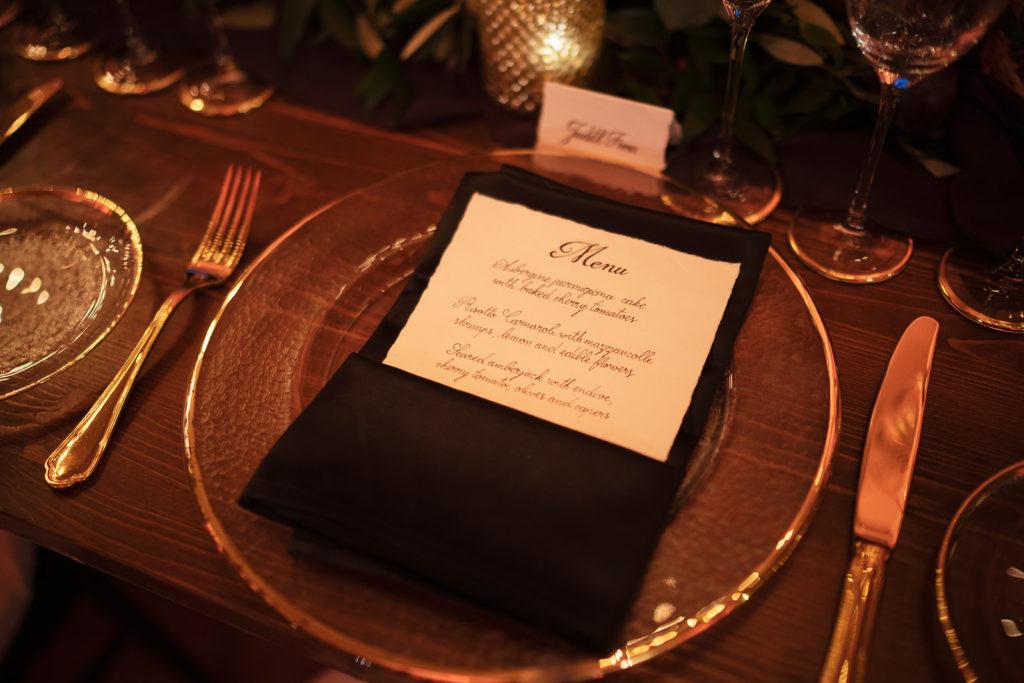 Calligraphy Menu - Wedding at Villa Cimbrone - Italian Wedding Designer