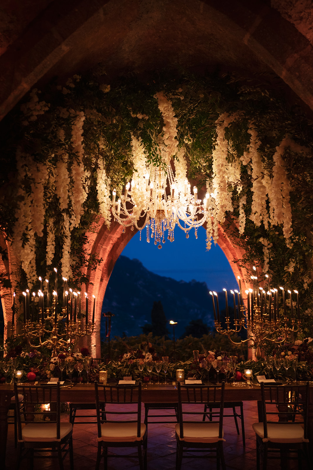 Crypt dinner - Wedding at Villa Cimbrone - Italian Wedding Designer