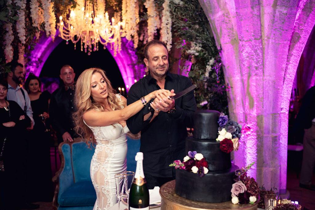 Dark Wedding Cake -Wedding at Villa Cimbrone - Italian Wedding Designer