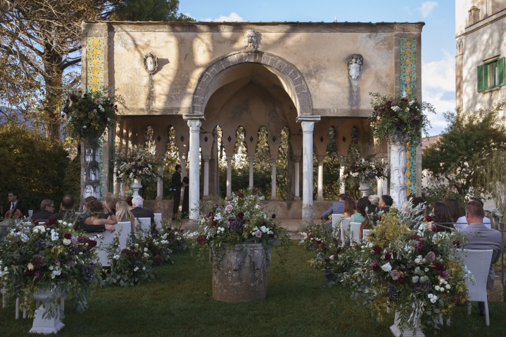 Tea Room Ceremony - Wedding at Villa Cimbrone - Italian Wedding Designer