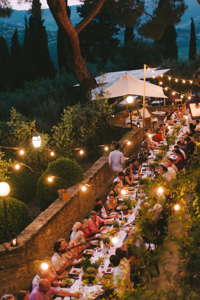 Long rectangular table - Wedding at Villa Vignamaggio - Italian Wedding Designer