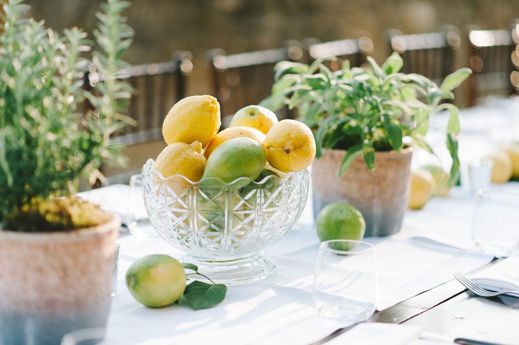 Lemon and Herbs - Wedding at Villa Vignamaggio - Italian Wedding Designer