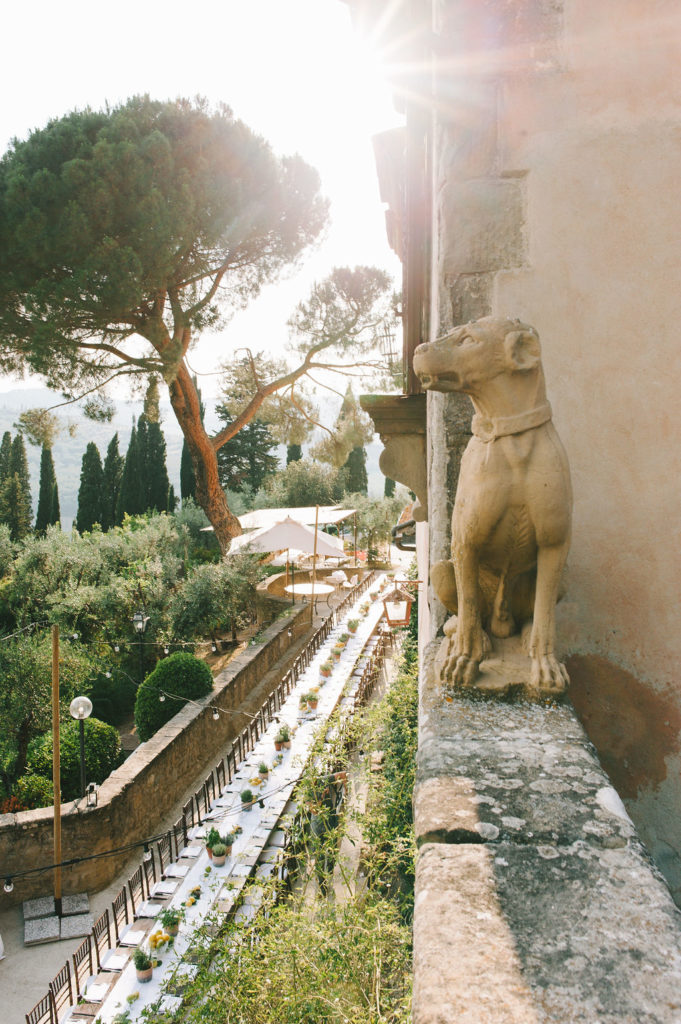 Imperial table - Wedding at Villa Vignamaggio - Italian Wedding Designer