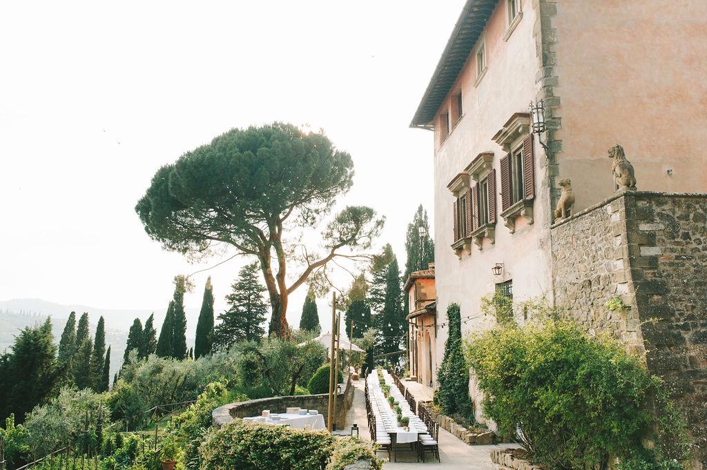 Dinner in the terrace - Wedding at Villa Vignamaggio - Italian Wedding Designer