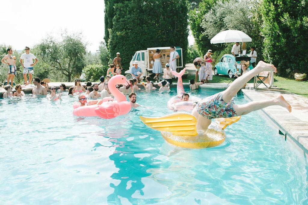Vignamaggio pool -Wedding at Villa Vignamaggio - Italian Wedding Designer