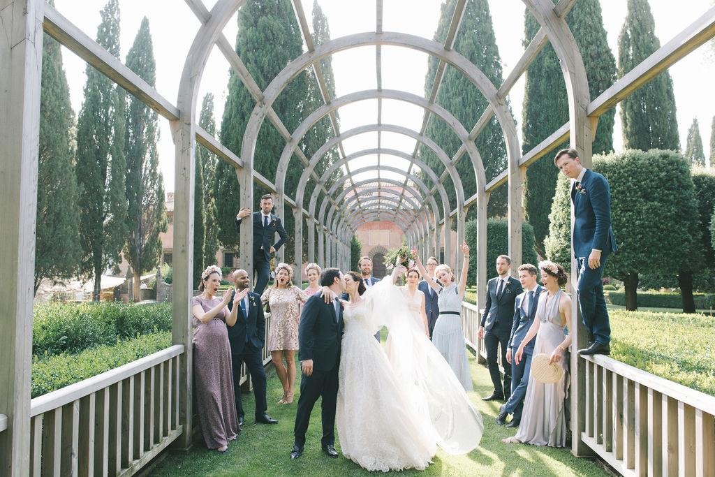 Wedding Party photo- Wedding at Villa Vignamaggio - Italian Wedding Designer