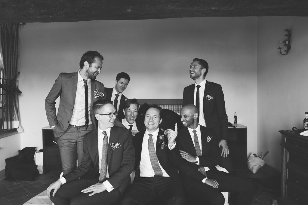 Groom and Groomsmen - Wedding at Villa Vignamaggio - Italian Wedding Designer