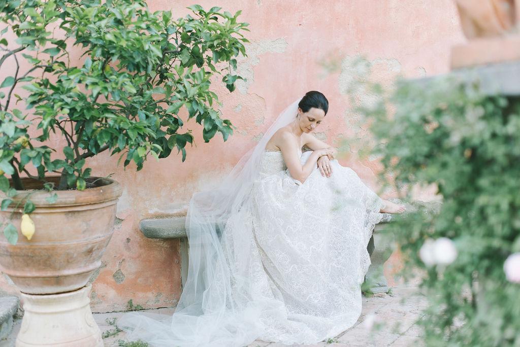 Bride Portrait - Wedding at Villa Vignamaggio - Italian Wedding Designer