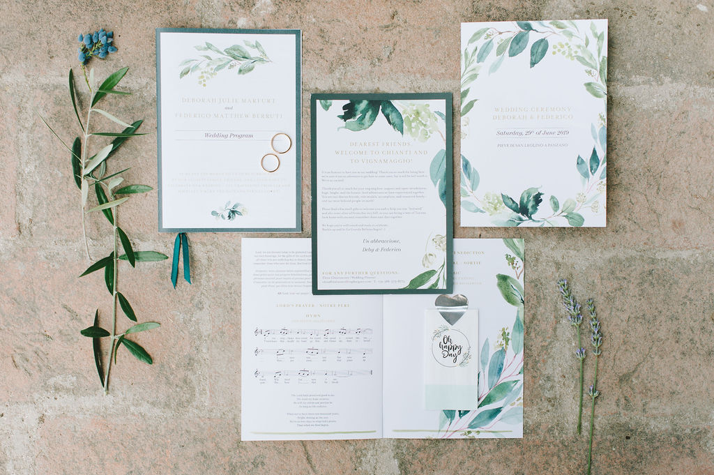 Stationary - Wedding at Villa Vignamaggio - Italian Wedding Designer