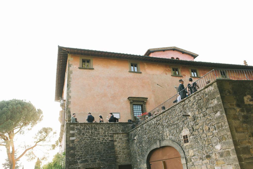 Aperitif in Gioconda Terrace- Wedding at Villa Vignamaggio - Italian Wedding Designer