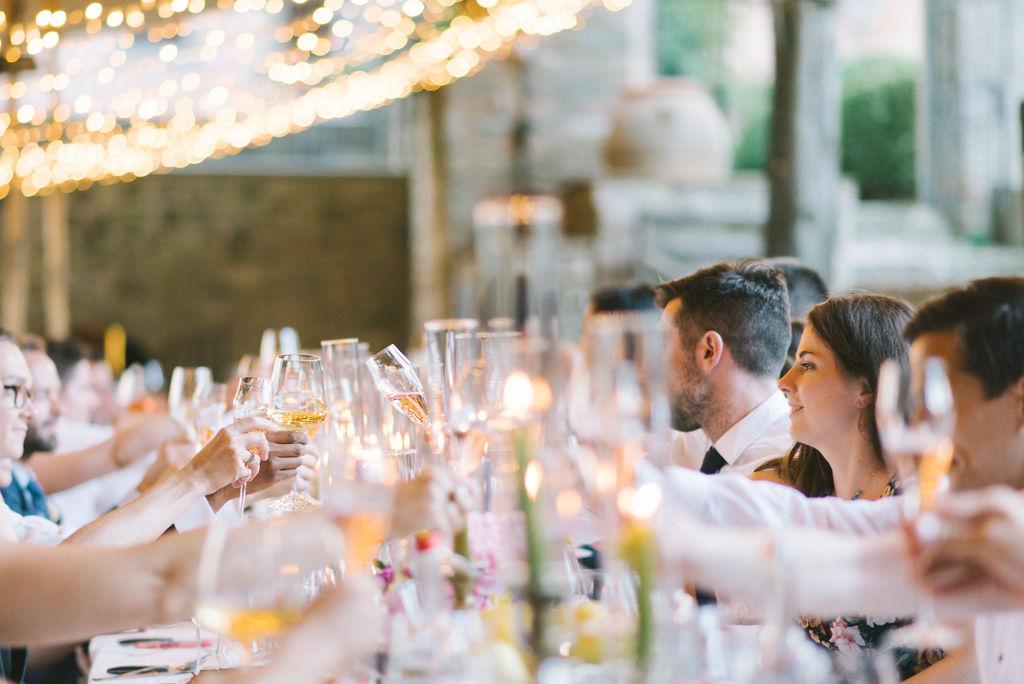 Toast at Vignamaggio - Wedding at Villa Vignamaggio - Italian Wedding Designer