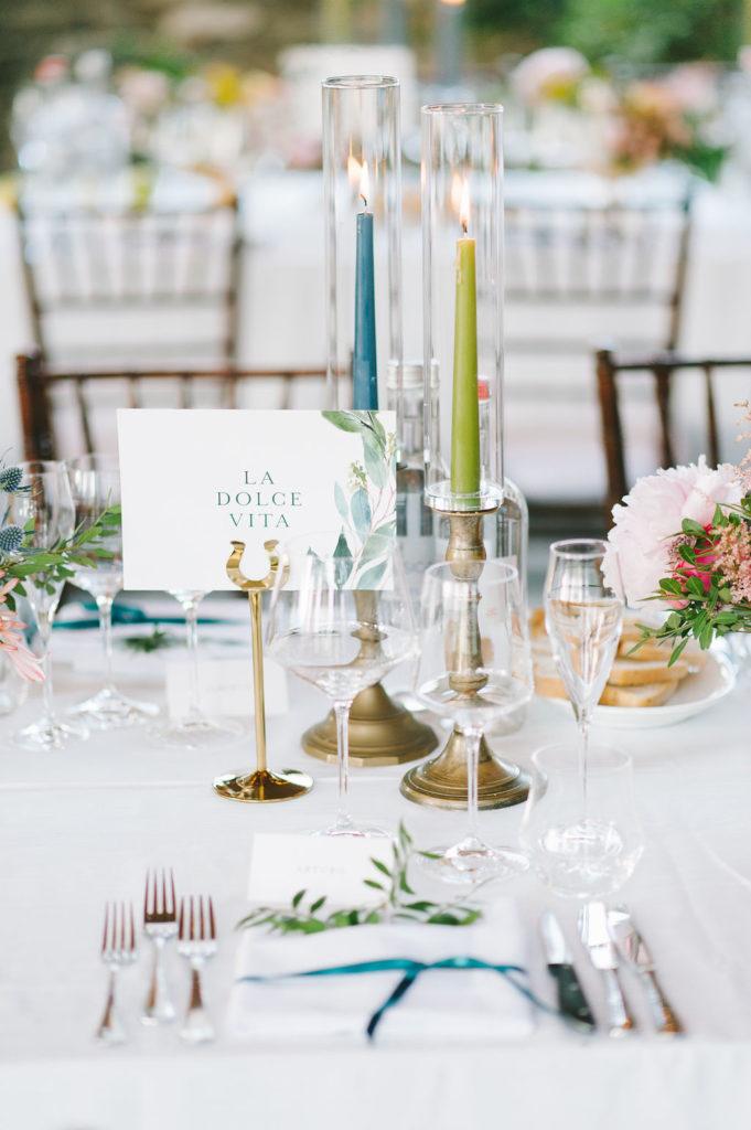 Table names holder- Wedding at Villa Vignamaggio - Italian Wedding Designer