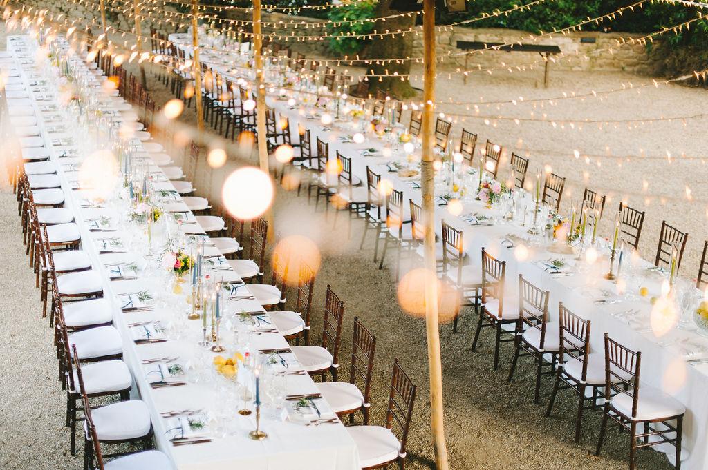 Giardino dei Lecci dinner- Wedding at Villa Vignamaggio - Italian Wedding Designer