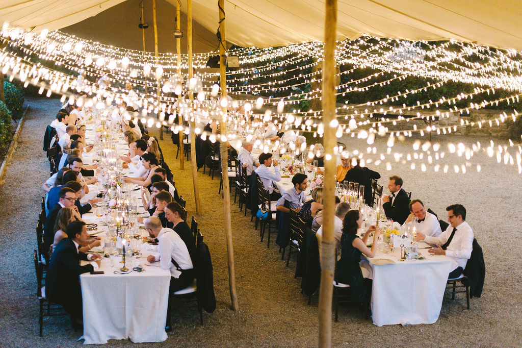 Dinner in Lecci garden - Wedding at Villa Vignamaggio - Italian Wedding Designer