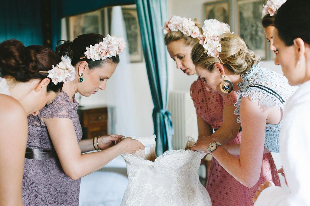 Bridesmaids - Wedding at Villa Vignamaggio - Italian Wedding Designer