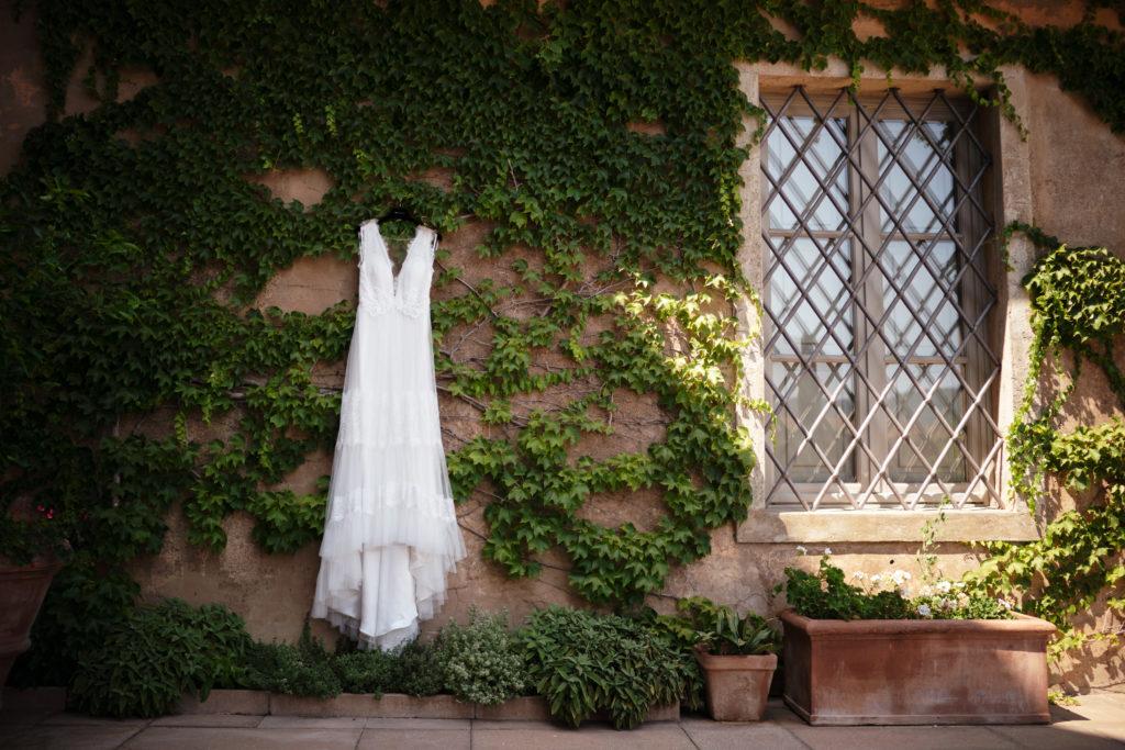 Wedding Dress - Wedding at Castello di Castagneto - Italian Wedding Designer