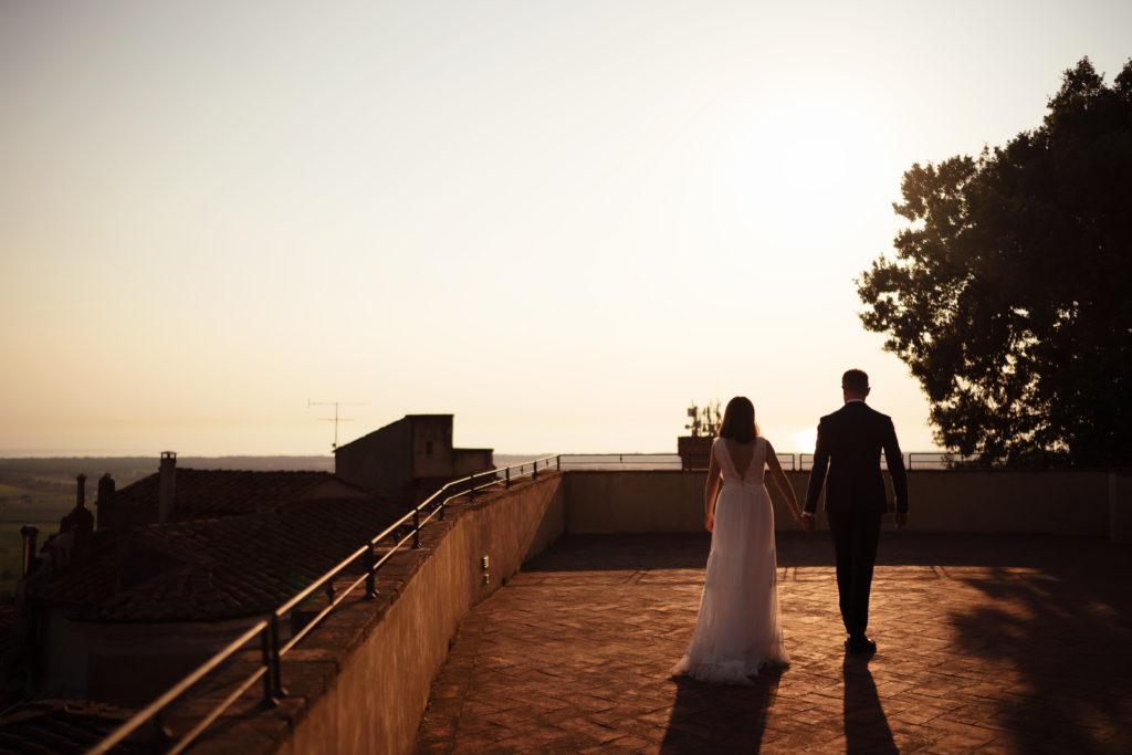 Newlywed portrait - Wedding at Castello di Castagneto - Italian Wedding Designer