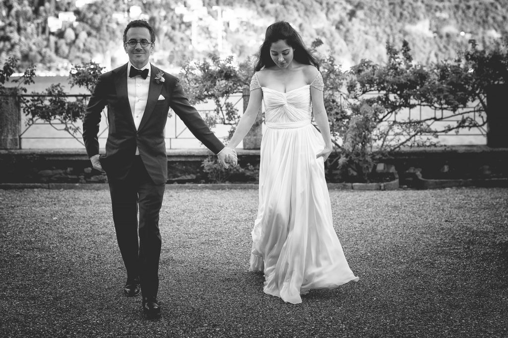 Bride and groom Villa Pizzo - A Persian Wedding in Italy - Italian Wedding Designer