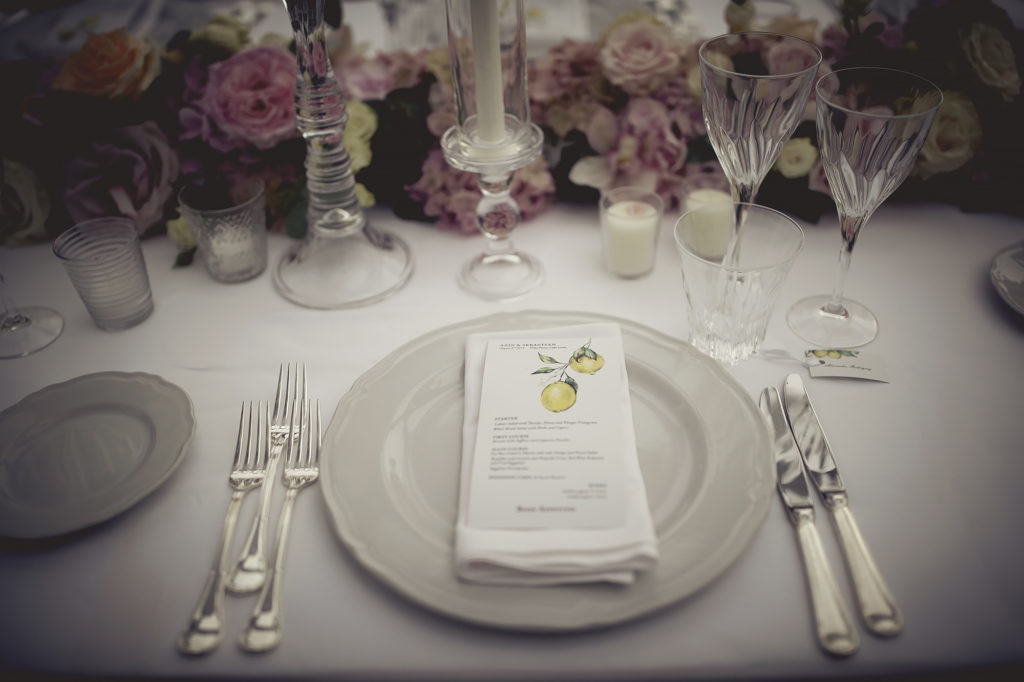 Menu stationary - A Persian Wedding in Italy - Italian Wedding Designer