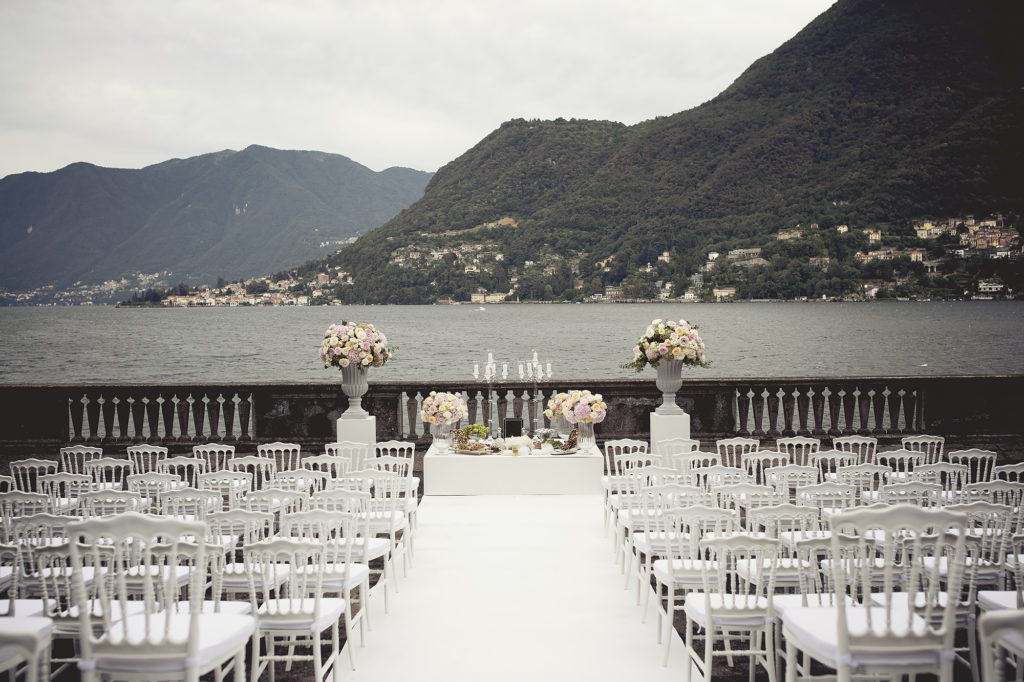 Ceremony in Villa Pizzo terrace - A Persian Wedding in Italy - Italian Wedding Designer