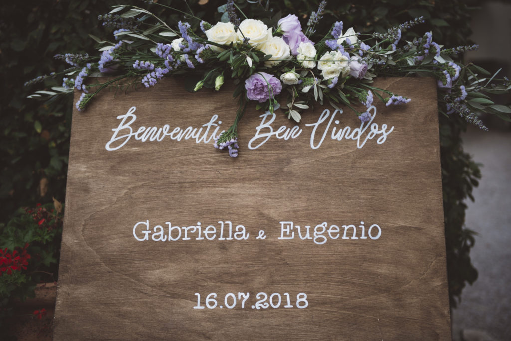 Wedding Welcome sign- Wedding at Castello di Meleto - Italian Wedding Designer