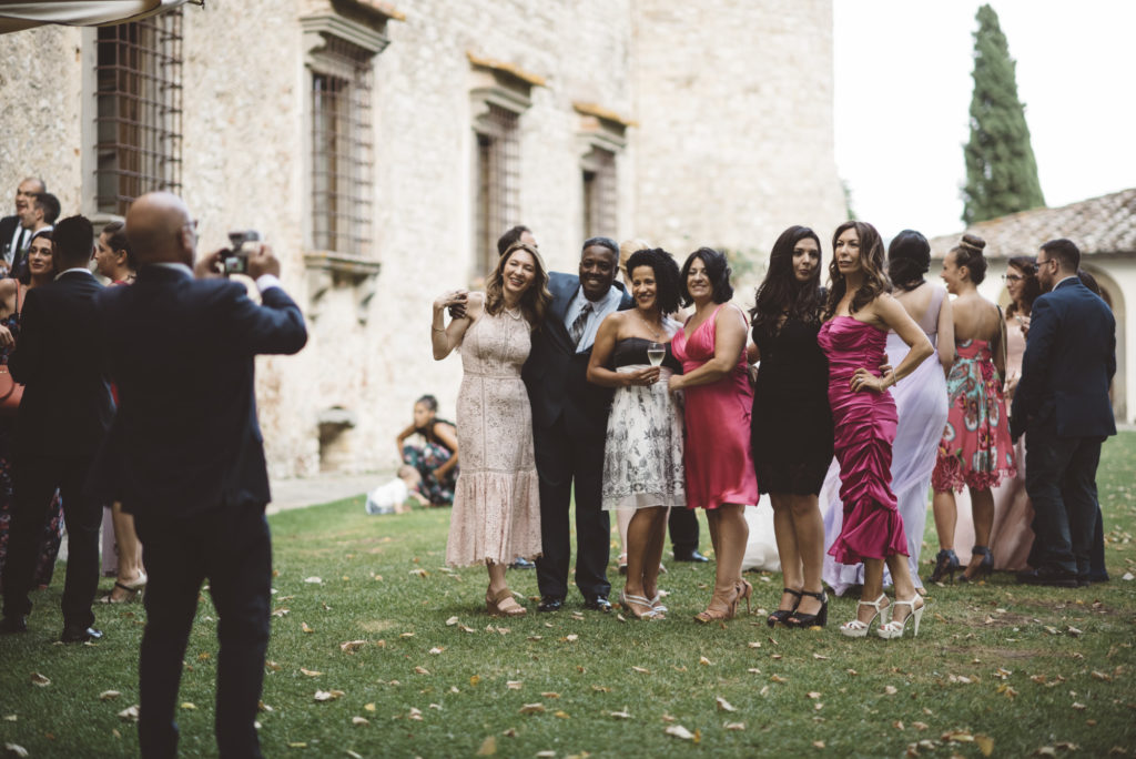 Aperitivo time - Wedding at Castello di Meleto - Italian Wedding Designer
