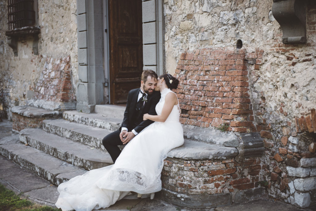 Wedding couple - Wedding at Castello di Meleto - Italian Wedding Designer
