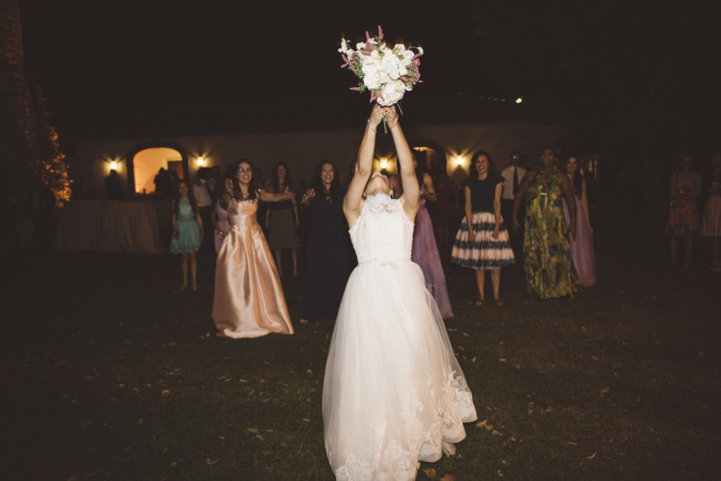 Single ladies bouquet- Wedding at Castello di Meleto - Italian Wedding Designer