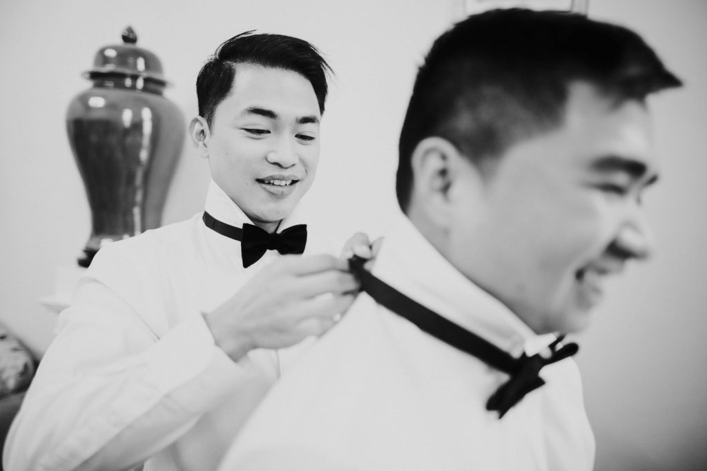 Groom helping Groom - Same-Sex Wedding in Italy - Italian Wedding Designer