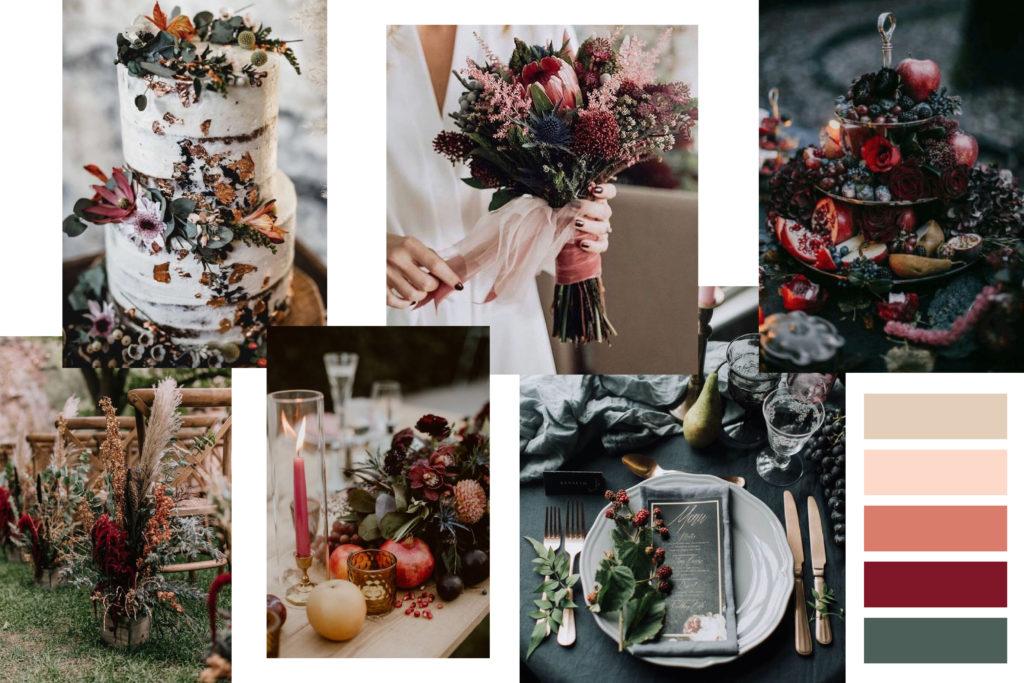 Autumn color Wedding Mood Board - Italian Wedding Designer