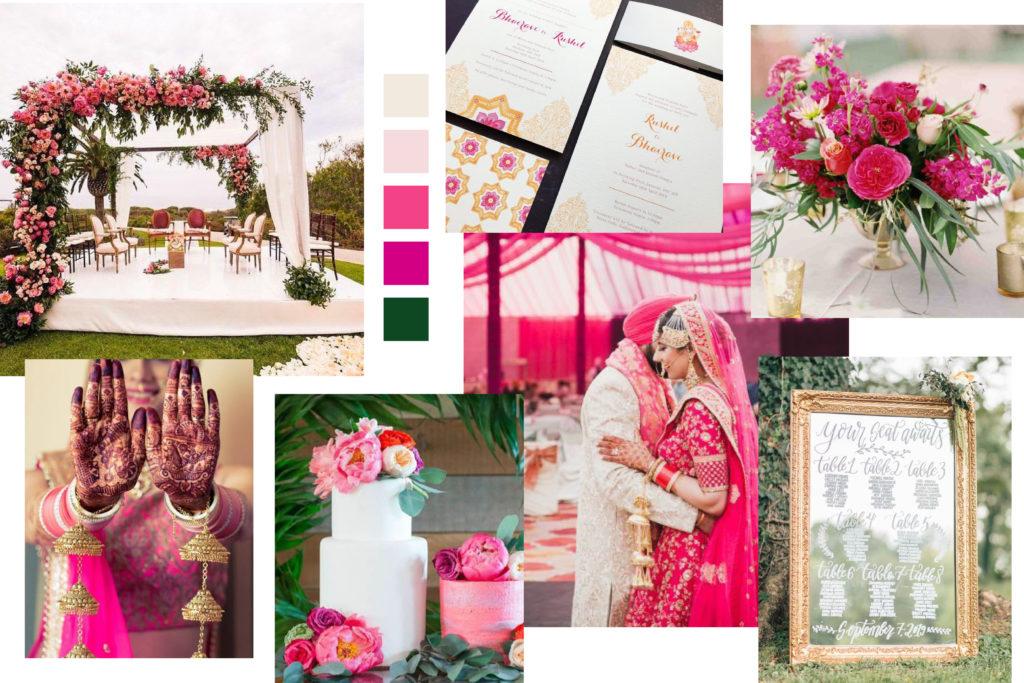 Indian Wedding Mood Board - Italian Wedding Designer