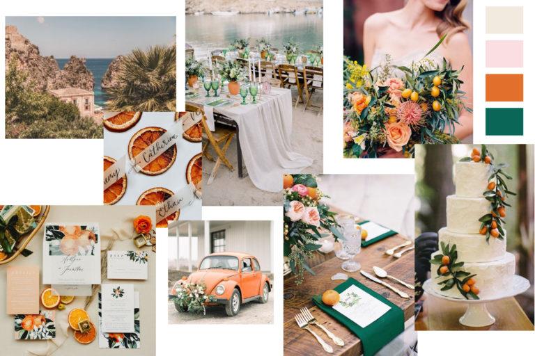 Wedding Mood Board Orange - Italian Wedding Designer