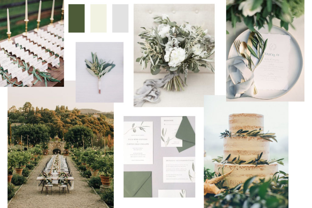 Olive tree color Wedding Mood Board - Italian Wedding Designer